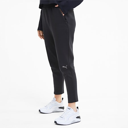Evostripe Knitted Women's Sweatpants, Puma Black, small-SEA