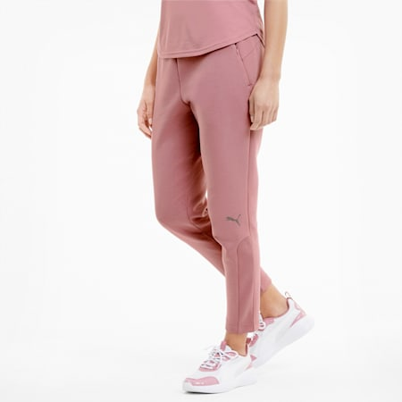 Evostripe Knitted Women's Sweatpants, Foxglove, small