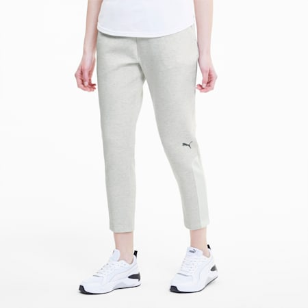 Evostripe Knitted sweatpants voor dames, Puma White Heather, small