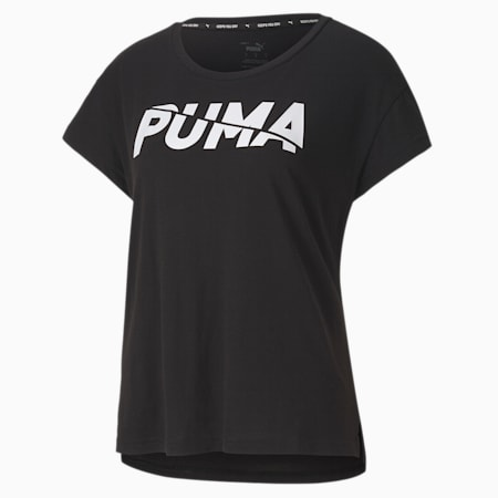 Modern Sports Graphic Relaxed Fit Women's T-Shirt, Puma Black, small-IND