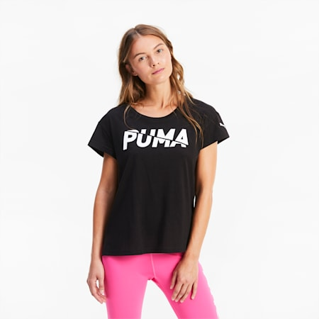 Modern Sports Graphic Women's Tee, Puma Black, small