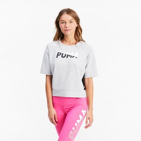 Modern Sports Graphic Damen Kurzarm-Shirt, Light Gray Heather, small