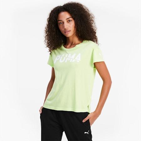 Modern Sports Graphic Damen Kurzarm-Shirt, Sharp Green, small