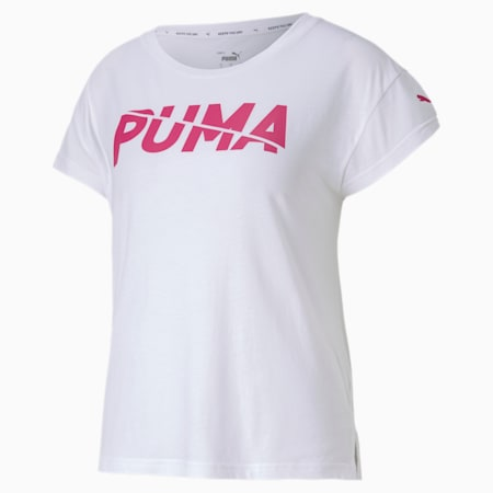 Modern Sports Graphic Women's Tee, Puma White-Glowing Pink, small-SEA