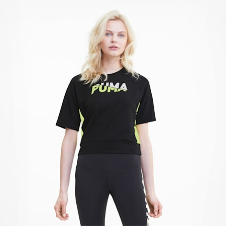 Modern Sports Women's Sweat Tee, Puma Black, small