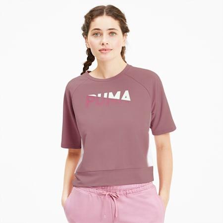 Modern Sports Women's Sweat Tee, Foxglove, small-GBR