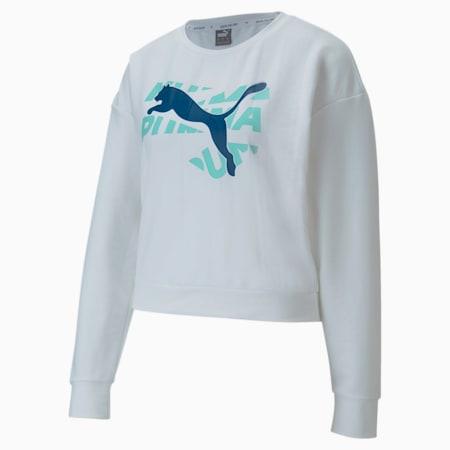 Modern Sports dryCELL Women's Sweatshirt, Puma White, small-IND