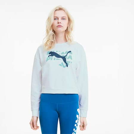 Modern Sports sweatshirt voor dames, Puma White, small