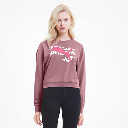 Modern Sports dryCELL Relaxed Fit Women's Sweatshirt, Foxglove, small-IND