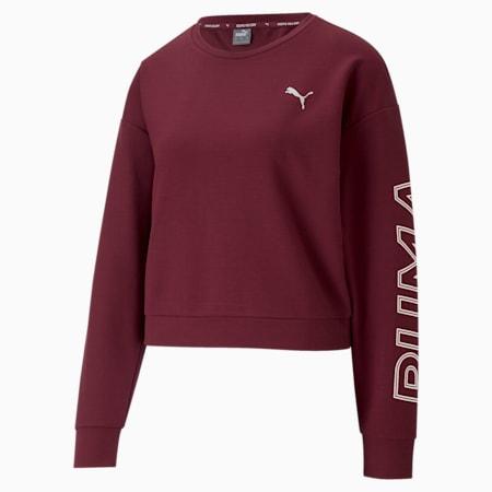 Modern Sports dryCELL Women's Sweatshirt, Burgundy, small-IND