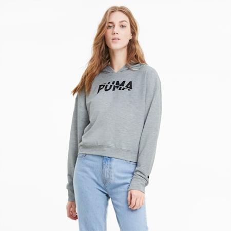 Damska bluza z kapturem Modern Sports, Light Gray Heather, small