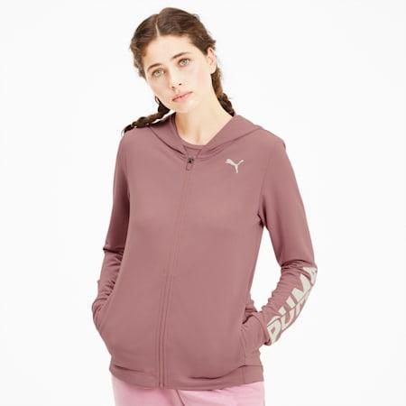 Modern Sports Women's Full Zip Hoodie, Foxglove, small