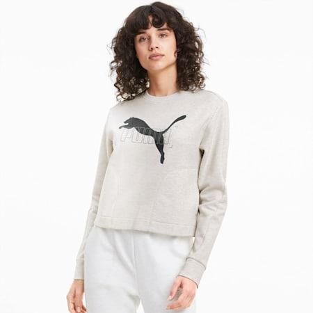 NU-TILITY Women's Sweater, Puma White, small-SEA