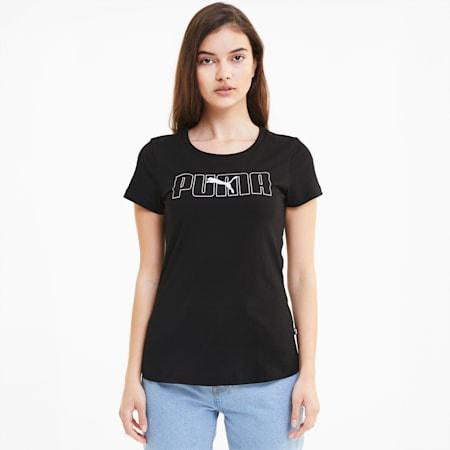 Rebel Graphic Women's Tee, Puma Black, small-SEA