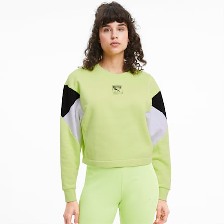Rebel Women's Sweater, Sharp Green, small-SEA