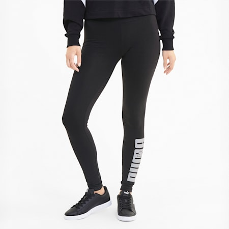 Rebel Graphic Women's Leggings, Puma Black, small