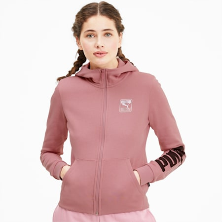 Rebel Women's Full Zip Hoodie, Foxglove, small