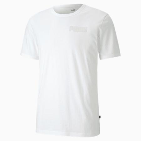 Modern Basics Men's T-Shirt, Puma White, small-IND