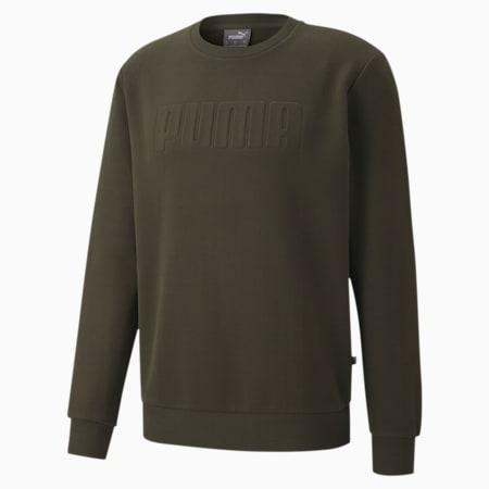 Męska bluza Modern Basics z okrągłym kołnierzem, Forest Night, small