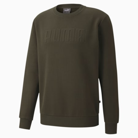 Modern Basics Crew Neck Men's Sweatshirt, Forest Night, small