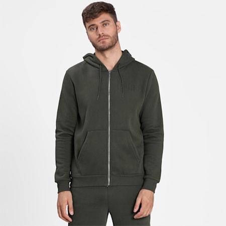 Modern Basics Men's Full Zip Hoodie, Forest Night, small