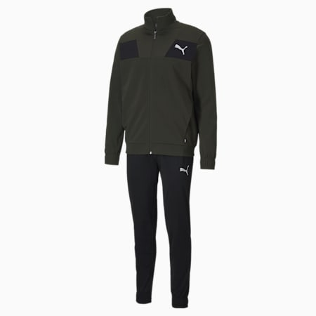 Techstripe Tricot Men's Tracksuit, Forest Night, small-IND