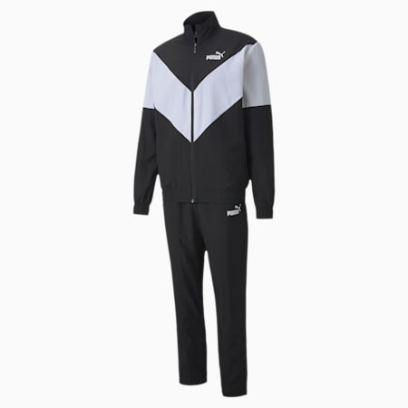 Woven Men's Tracksuit, Puma Black, small-IND