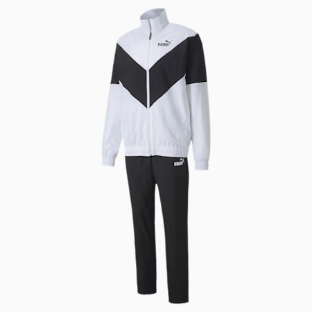 Woven Men's Tracksuit, Puma White, small-IND