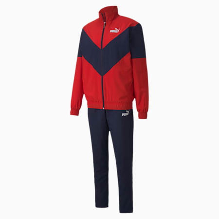 Woven Men's Tracksuit, High Risk Red, small-IND
