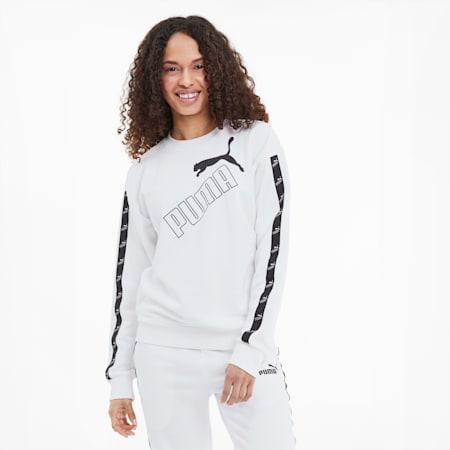 Amplified Crew Neck Women's Sweatshirt, Puma White, small