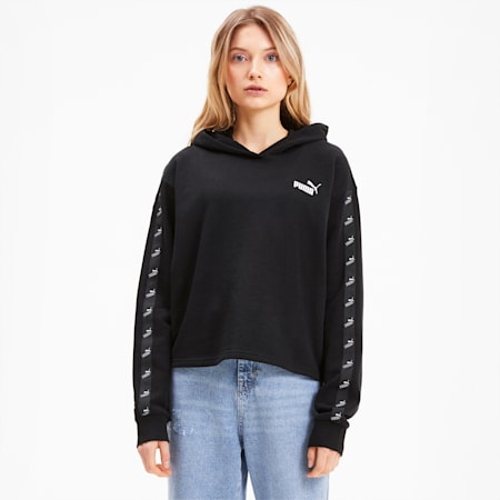 Amplified Women's Cropped Hoodie, Puma Black, small