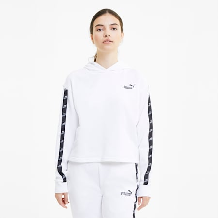 Amplified Cropped Women's Hoodie, Puma White, small