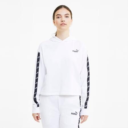 Sweat à capuche court Amplified pour femme, Puma White, small