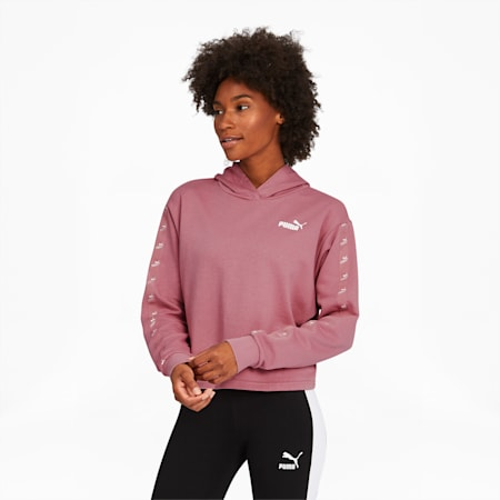 Amplified Women's Cropped Hoodie, Foxglove, small