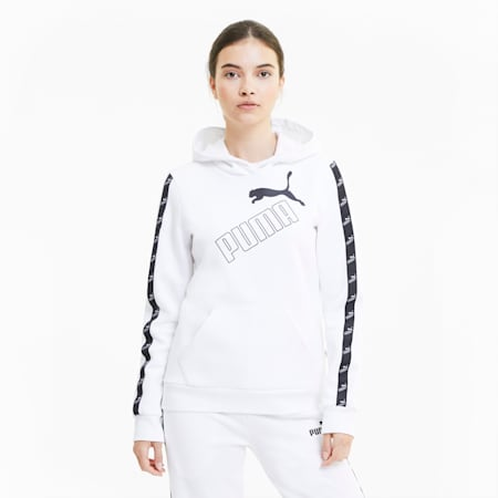 Amplified Women's Hoodie, Puma White, small