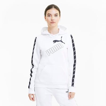 Sweat à capuche Amplified pour femme, Puma White, small