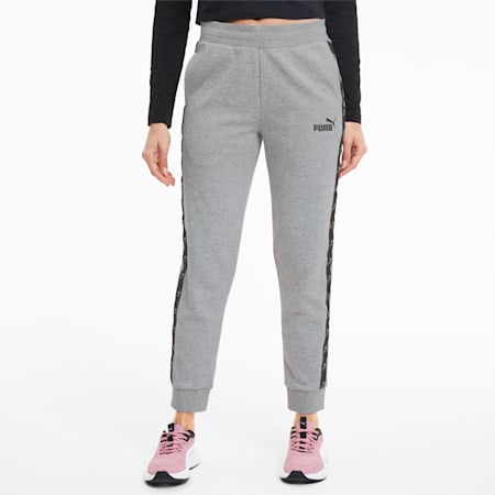 Amplified Women's Track Pants, Light Gray Heather, small