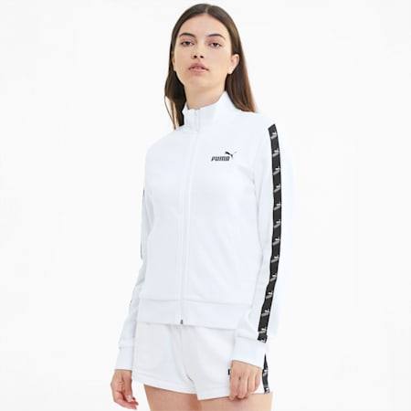 Amplified Women's Track Jacket, Puma White, small