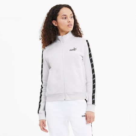 Amplified Full Zip Women's Track Jacket, Puma White, small-SEA