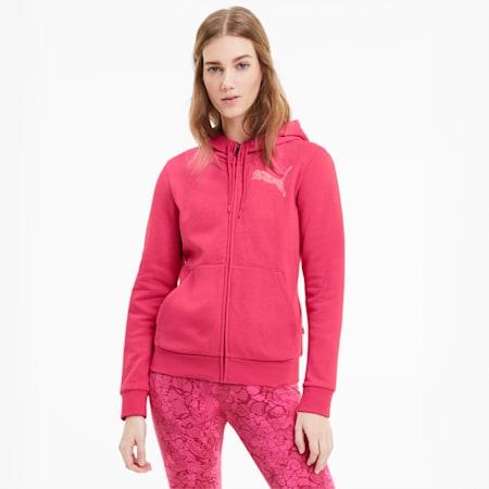 KA Damen Sweatjacke mit Kapuze, Glowing Pink, small
