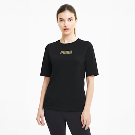 Modern Short Sleeve Women's Tee, Puma Black, small-SEA