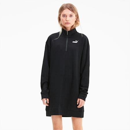 Essentials+ Half Zip Women's Dress, Puma Black, small