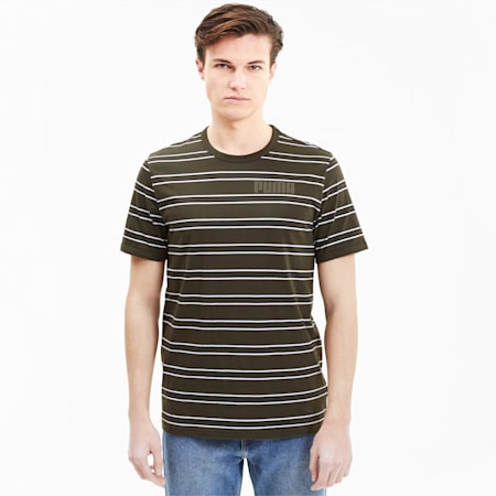 Modern Basics Striped Men's Tee, Forest Night, small-SEA