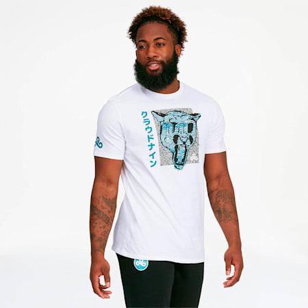 Camiseta PUMA x CLOUD9 Big Cat , Puma White, pequeño