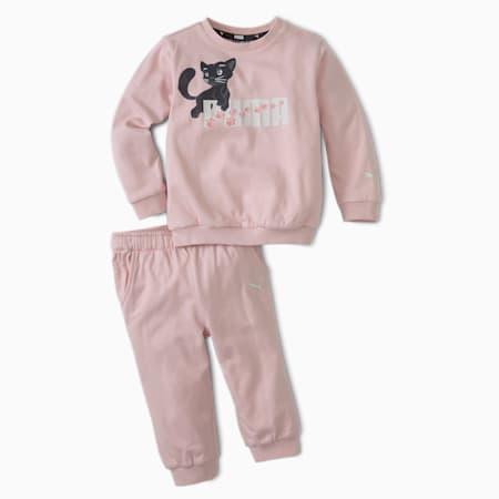 Animals Infant + Toddler Crewneck + Jogger Set, Peachskin, small