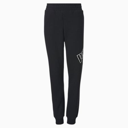 Big Logo Youth Sweatpants, Puma Black, small