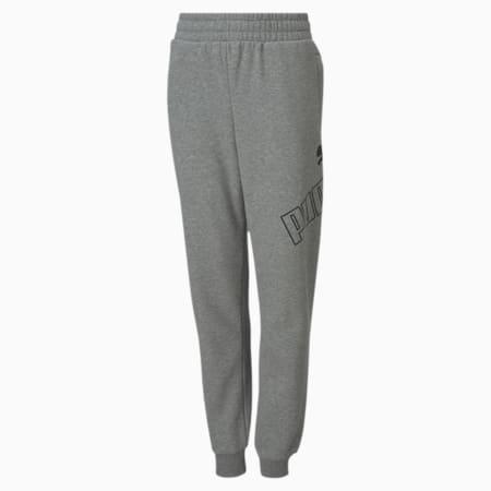 Big Logo Youth Sweatpants, Medium Gray Heather, small