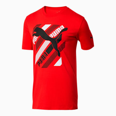 Cat Brand Men's Graphic Tee, High Risk Red, small