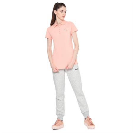 Womens Graphic Polo I, Peach Bud, small-IND
