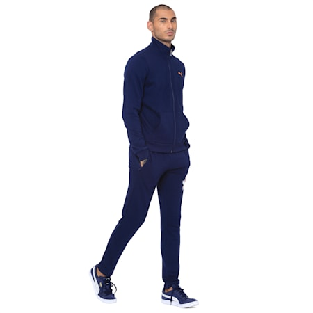 Mens Graphic Sweat Jacket VIII, Peacoat, small-IND